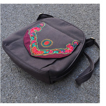 Embroidery Bag Stylish Featured Shoulders Bag Fashionable Bag Woman's coffee - $38.49