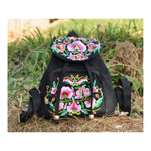Embroidery Bag Stylish Featured Shoulders Bag Fashionable Woman's Bag Bulk black - $30.79