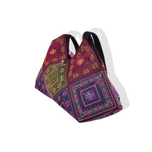 Naxi Featured Embroidered Single-shoulder Bag Embroidered Big Bag Featured Bag - $28.59