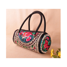 Embroidered Bag Featured Round Pipe Shape Pillo... - $24.19
