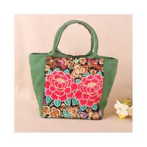 Embroidery National Bag Canvas Mori Girl Bag Literary Handbag Souvenir - $28.59