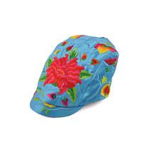 Kunming Cap Balck Peaked Cap Woman Embroidery Dahlia   sky blue - $22.99