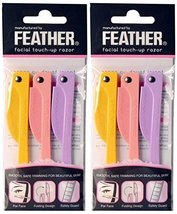 Feather Flamingo Facial Touch-up Razor  3 Razors X 2 Pack image 2