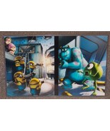Monsters Inc vs Dispicable Me Glossy Print 11 x 17 In Hard Plastic Sleeve - $24.99