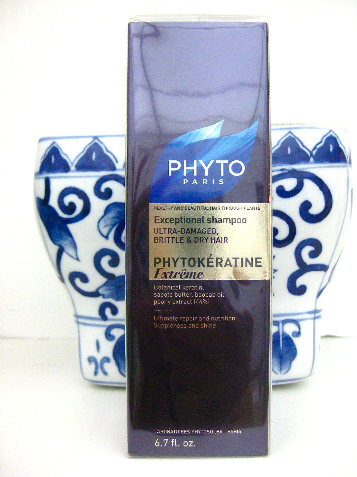 PHYTO Phytokeratine Extreme Exceptional Shampoo ULTRA DAMAGED DRY BRITTLE HAIR