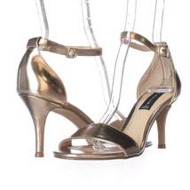 Steve Madden Vienna Ankle Strap Dress Sandals, Gold, 7.5 US Display - $37.43