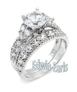4.15 CT ROUND CUT CZ .925 STERLING SILVER WEDDI... - $34.99