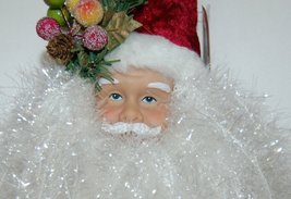 Sterling 382450 Deluxe Santa Head 18 Inches Burgundy Hat White Tensile Beard image 3