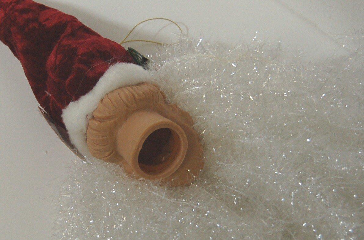 Sterling 382450 Deluxe Santa Head 18 Inches Burgundy Hat White Tensile Beard