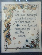 Most Beautiful Things Heart New Counted Cross Stitch Kit 9x12 Bucilla Feelings - $25.99