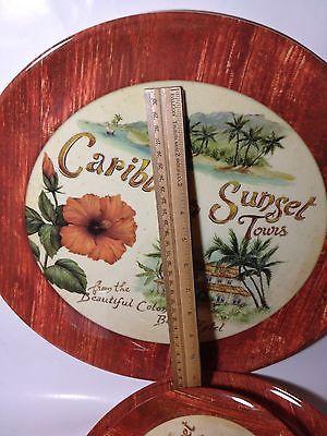 Caribbean Tropical Tiki plate set 9 Precidio and 50 similar items