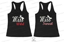 Best Friend Matching Tank Tops - Miss Wild and Miss Sweet with Shoes for... - $34.99+