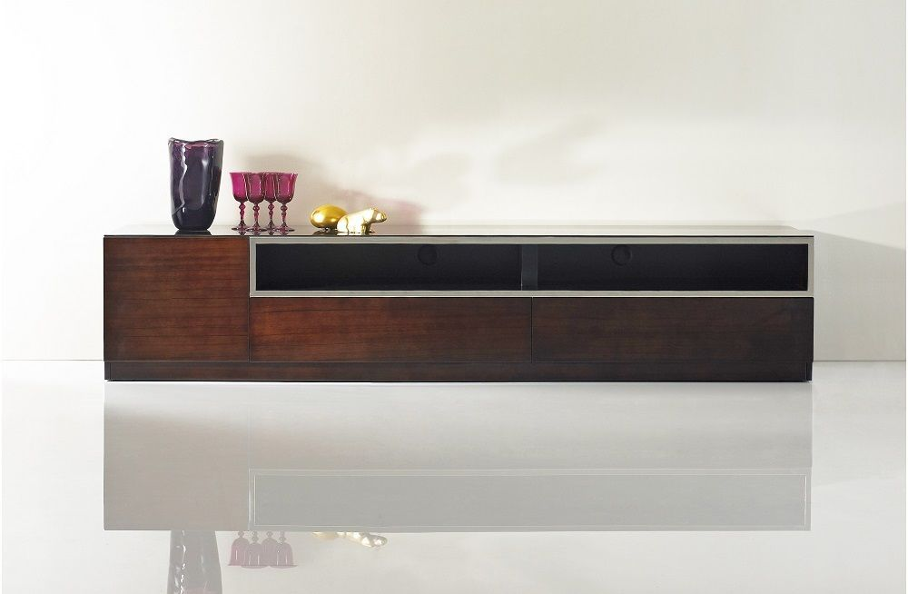 J&M Bari Dark Glass Premium TV Base Modern Style