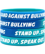 50 Non Bullying Wristbands - ANTI BULLYING bracelets - Stand Against Bul... - $23.88