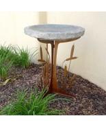 Stone Age Creations BB-CT-CHR Charcoal Cattails Silhouette Stone Birdbath - $479.84