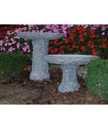 Stone Age Creations BB-PL-2 Charcoal Granite Plume Birdbath Natural Stone - $575.84