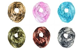 Tiger Animal Print Stripe Block Circle Loop Wrap Infinity Scarf Multi Color Soft - $6.45