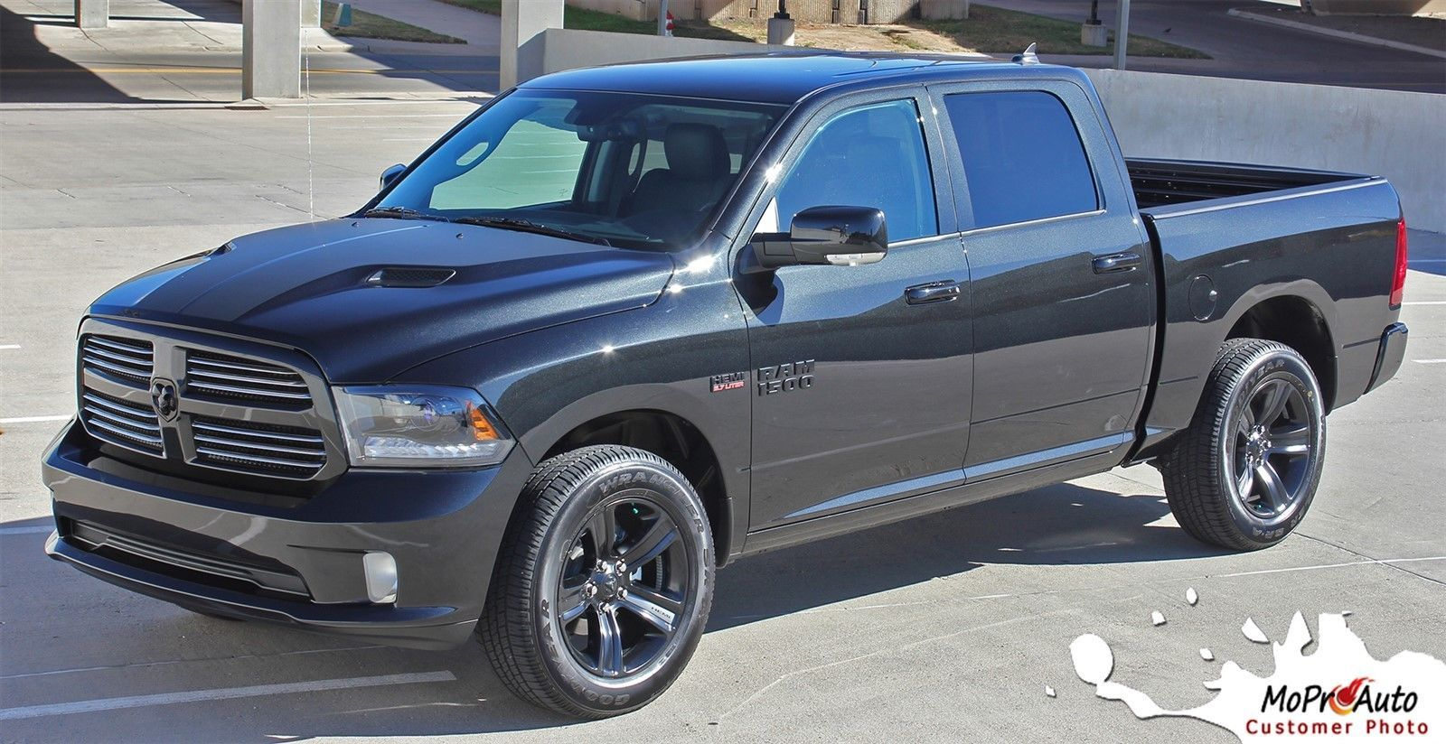 2012 dodge ram factory style hemi hood 3m pro vinyl graphics decals stripes d05 graphics decals. Black Bedroom Furniture Sets. Home Design Ideas
