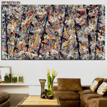 """Jackson Pollock """"Number 11"""" HD print on canvas large wall picture 47x24"""" - $29.69"""
