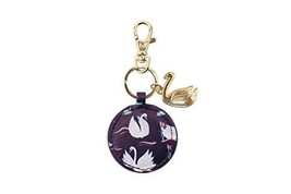Wild Thoughts Swan Wild Life Keyring Key Ring With Swan Charm And Bag Cl... - $9.89