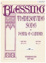 Thanksgiving Song Sheet Music - Pearl Curran - voice and piano Free Ship - $8.56