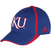 Adidas NCAA College KANSAS JAYWAWKS Football Curved Hat Cap Size S/M - $20.00