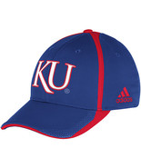 Adidas NCAA College KANSAS JAYWAWKS Football Curved Hat Cap Size S/M - $20.00