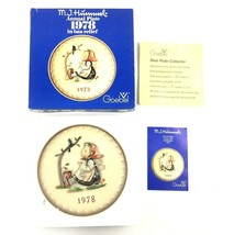 """Hummel Goebel Annual Collector Plate 1978 """"Happy Pastime"""", in Original Box - $12.50"""