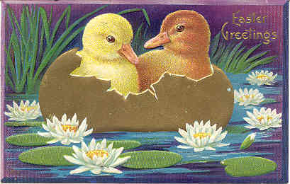 Primary image for  Easter Ducklings Vintage Post Card
