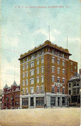 Primary image for  Young Mens Christian Bldg Centre Square Allentown Penna Post Card