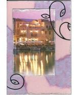 ACEO ATC Art Card Original Greece Greek Isles Town Boats Water Building ... - $5.00