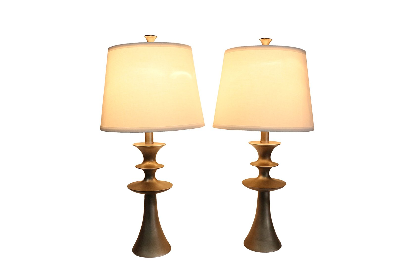 Urbanest Set of 2 Netto Table Lamps, Pewter