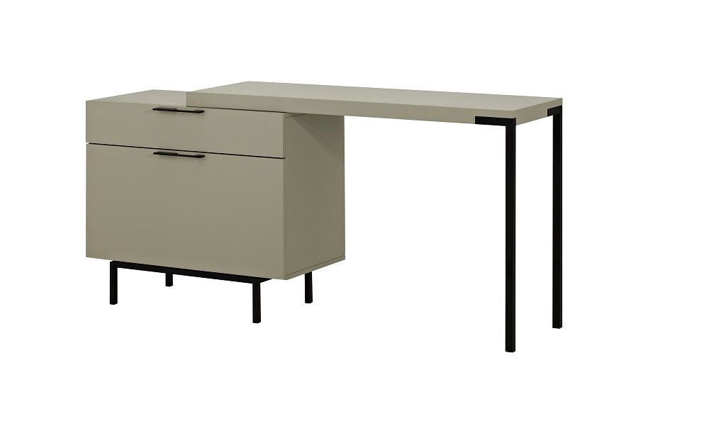 J&M Taupe High Gloss Angel Office Desk Contemporary Modern Style