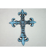 Country Rustic Brown Wrought Iron with Turquoise Accent - $15.98