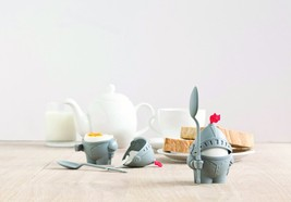 Egg Cup Funky Design Kids Gifts Arthur Knight Decor Home Kitchen Spoon E... - $10.91