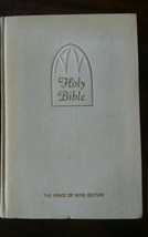 Vintage 1944 WHITE Holy Bible KJV The Peace of ... - $69.29