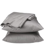 Fieldcrest Luxury Egyptian Cotton 600 Thread Count Sheet Set, Light Grey... - $69.99