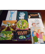 (9) Rick and Morty Stickers, Birthday Party Favors, Decals, labels - $8.99