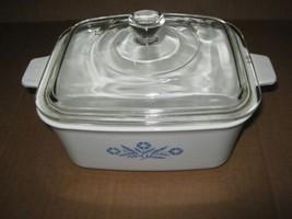 Vintage Corning Ware 1.5 Qt Rectangular Casserole Cornflower Blue P4B  - $19.79