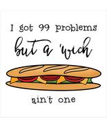 """99 Problems"" Lyrics Sandwich Digital Art Print - $35.00"