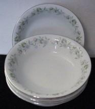 """Johann Haviland """"FOREVER SPRING"""" China Floral Platinum 4 Fruit/Dessert Bowls - $16.23"""