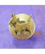 Scottish Terrier Tie Tack Vintage gold Lapel Pin Pinback scottie Dog Fig... - $75.00