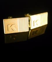 Monogrammed Script K Cufflinks Vintage Letter Initial Designer Custom Cu... - $75.00