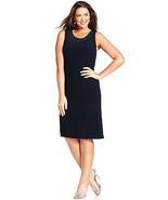 R & M Richards New Womens Navy  Sleeveless Glitter Shift Dress   Plus   ... - $26.72