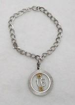 Vintage Sterling Silver 925 Sweet 16 Charm Starter Charm Bracelet - $48.51
