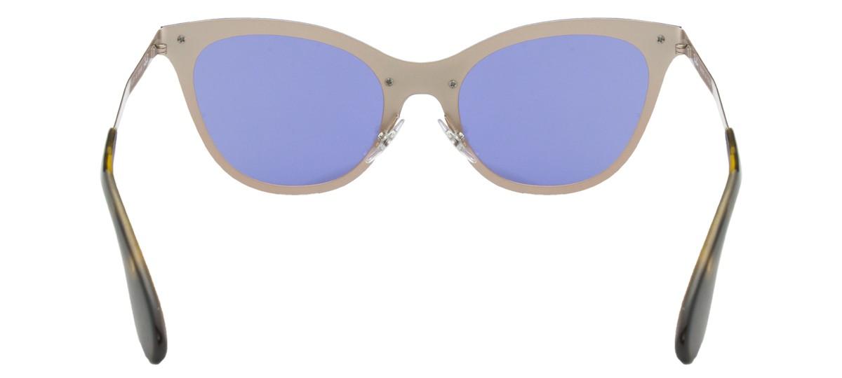 401ca6c6df Ray Ban Blaze Cat Eye Sunglasses RB3580N 90391U Bronze Copper Violet Mirror  43mm