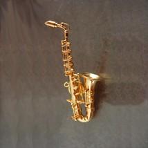 Miniature Saxaphone Tie tack Artist gift Musician Band Birthday gift for him mus - $95.00