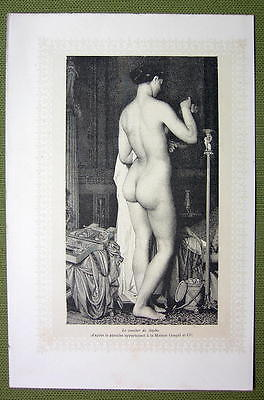 NUDE IN ART Bedtime of Psyche Evening Toilette - Lichtdruck Print Illustration