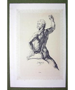 NUDE IN ART Man Male & Woman with Snail - 2 Lic... - $11.88