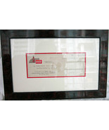 Framed Original Coca-Cola Check Circa 1951 - $125.00